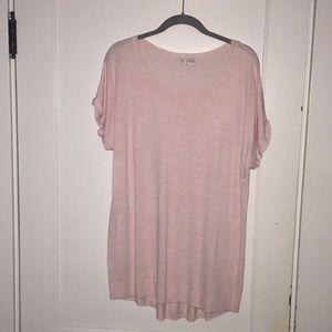 Gap Pink Marled knit tunic XL